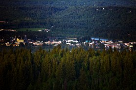 Downtown Quesnel from Pinnacles Provincial Park.
