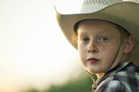 Portrait of a young cowgirl
