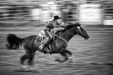 Just a blur: Billy Barker Days Rodeo