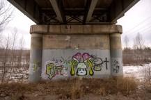 First bit of graffiti encountered