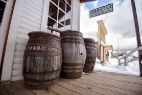 Barrels outside Mason & Daly
