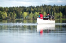 In the act: fishing on Bouchie Lake