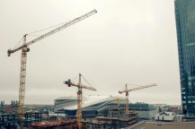 Rogers Place and continued construction in the area