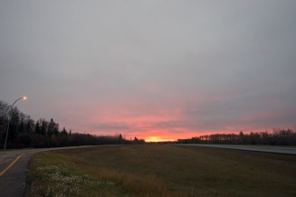 Sunrise outside Hinton