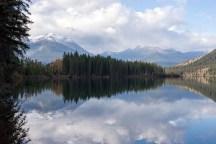 Yellowhead Lake reflections after scrambling down a disused trail.