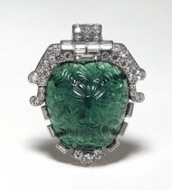 Clip Emerald brooch By Cartier - British Museum