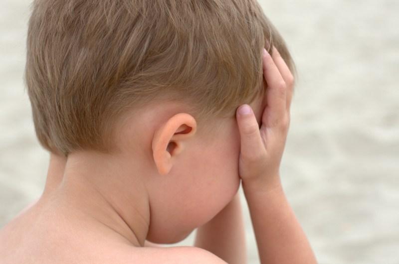 crying little boy