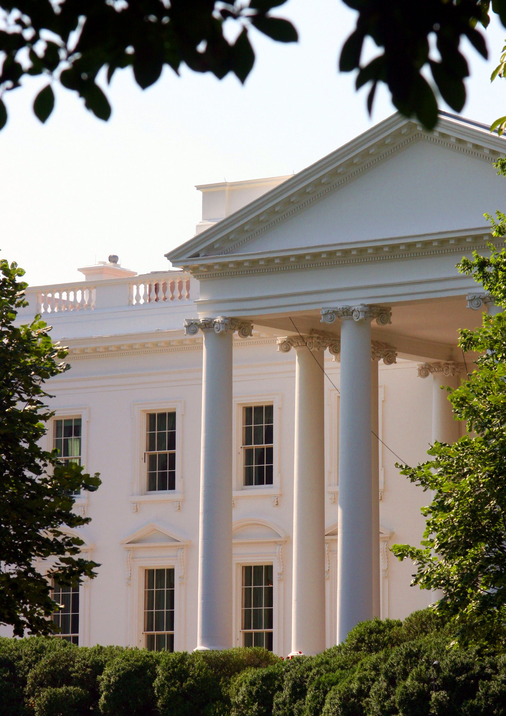Close up of the White House