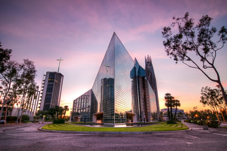 The Crystal Cathedral at Sunset