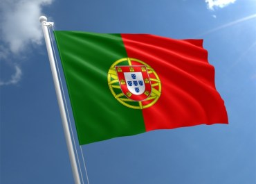Portugal flag against the blue sky