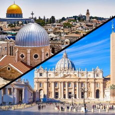 skyline in Rome, skyline in the Holy Land
