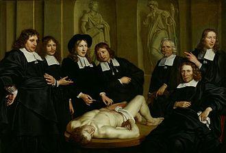 Adriaen Backer, La lezione di anatomia del Dottor Ruysch, 1670