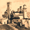 logo di Cantina Visconti - dipinto di Vigoleno