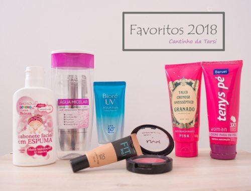 Lista de produtos favoritos de 2018