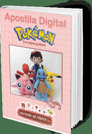 Apostila Digital Pokémons em Feltro