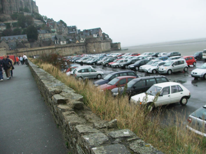 Mont saint Michel estacionamento
