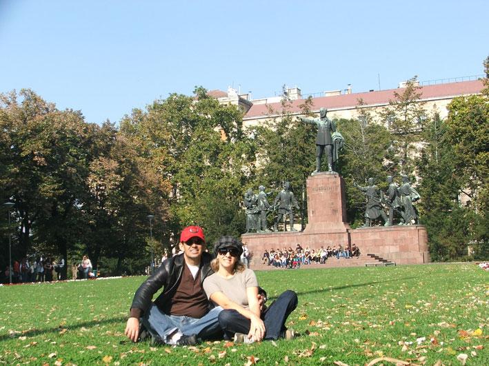 Budapeste-jardim-Parlamento