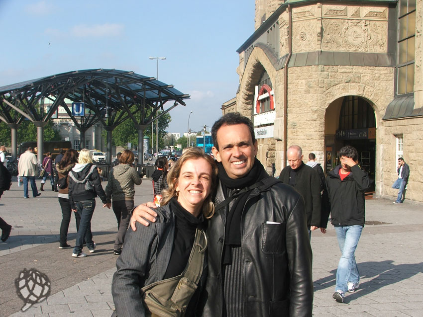 Eu e Pipo estacao Hamburgo