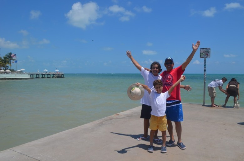 Key West meninos praia