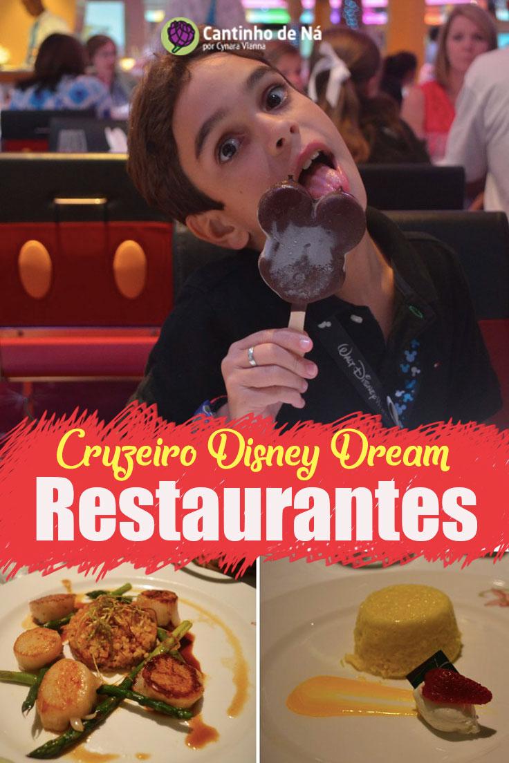 Como são as refeições no cruzeiro Disney Dreem