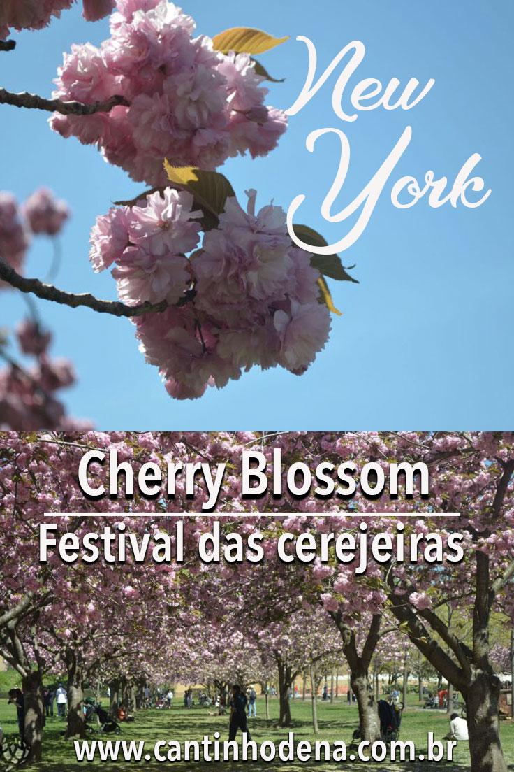 Cherry Blossom no Brooklyn Botanic Garden em New York