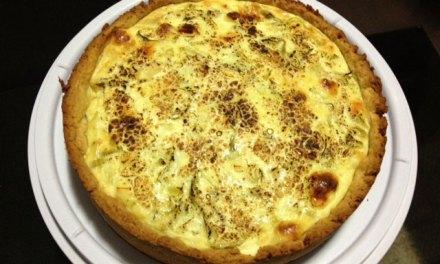 Quiche de abobrinha, queijo coalho e champignon