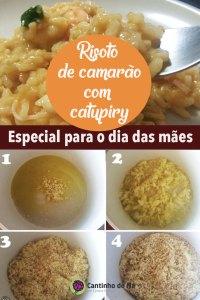 Receita de risoto de Camarão com catupiry
