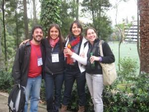 Sempre com Café na mão -Equipe da UnB no Congresso em Bogotá
