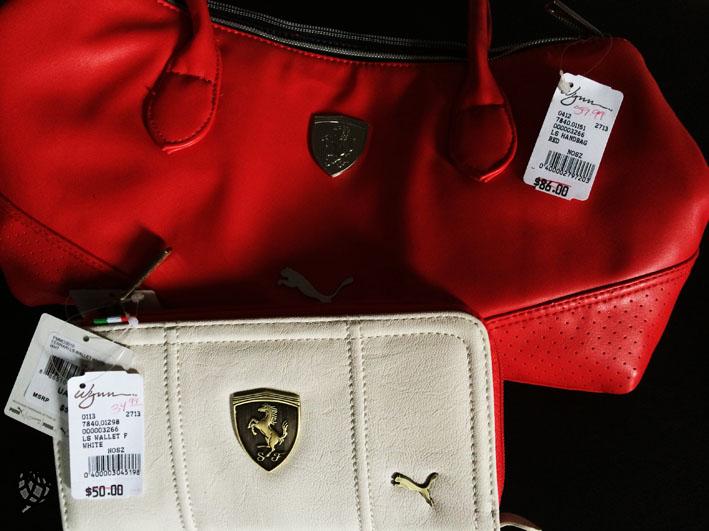 Loja Ferrari bolsas