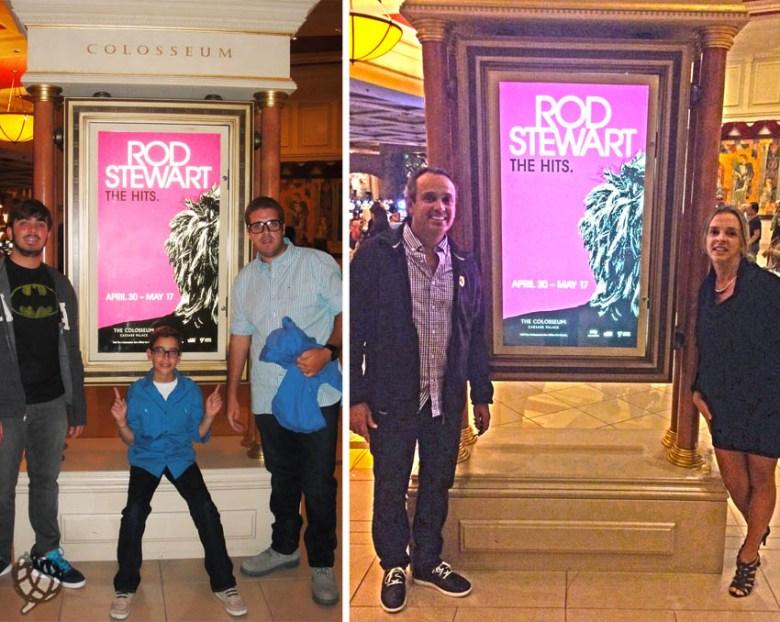 Rod Stewart em Las Vegas placa