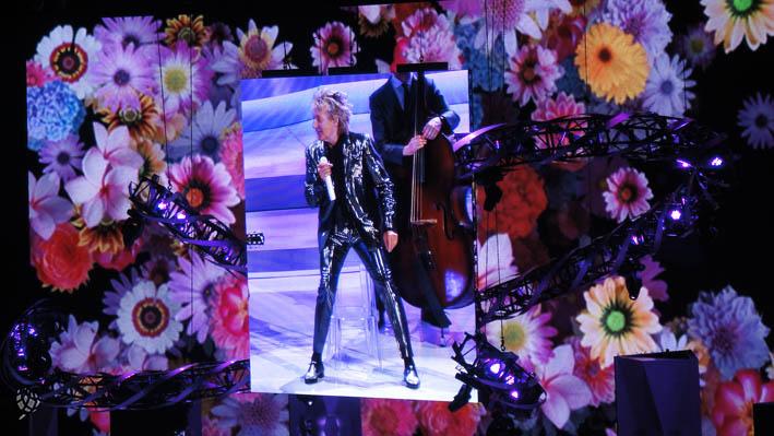Rod Stewart em Las Vegas telao