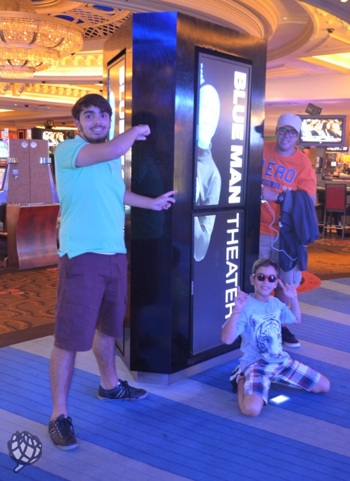 Blue Man Las Vegas totem
