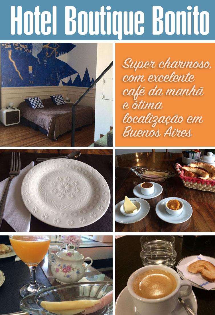 Review do Hotel Boutique Bonito em Buenos Aires. Muito charmoso, com apenas 5 quartos e um ótimo café da manhã.