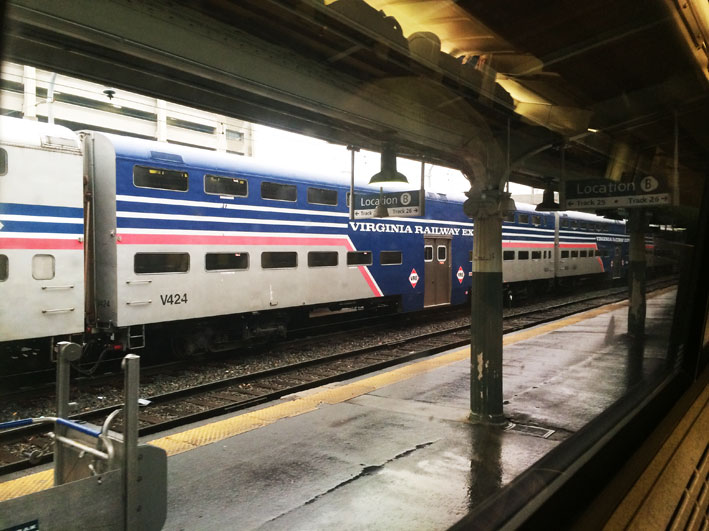 Trem Amtrak de Washington para New York