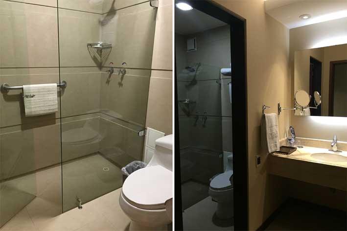 Hotel-perto-do-aeroporto-em-Bogota-banheiro