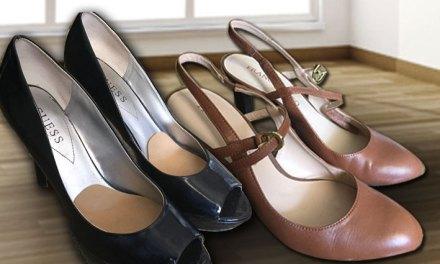 Compras nos Estados Unidos: Sapatos de vários tipos.