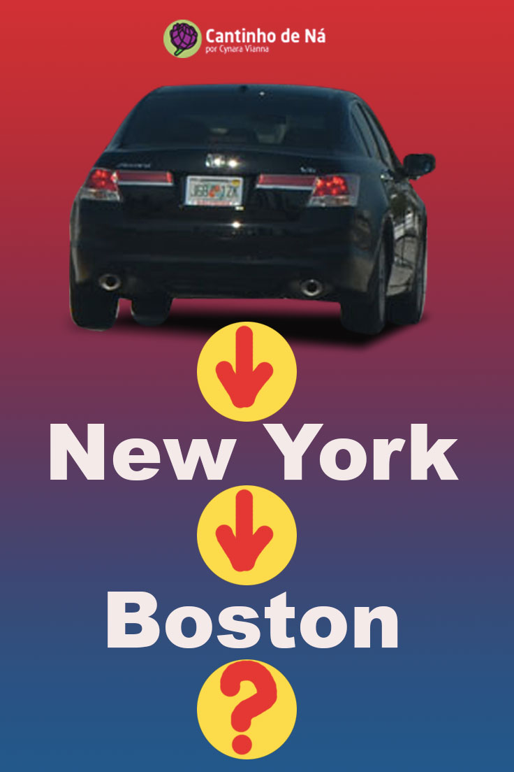 De carro de New York para Boston