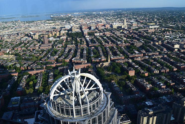 Boston vista do alto