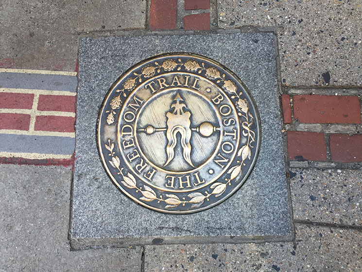 Pla sinalizadora da Freedom Trail
