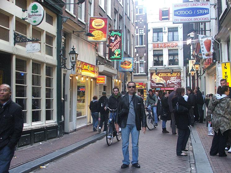 Bairro vermelho em Amsterdam
