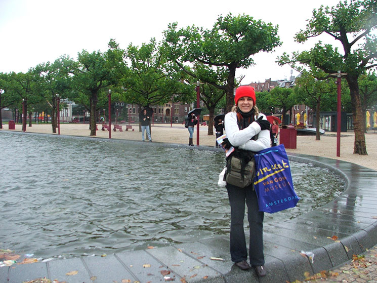 Temperatura baixa em Amsterdam