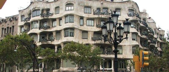 Fachada da Casa MIlà ou La Pedrera