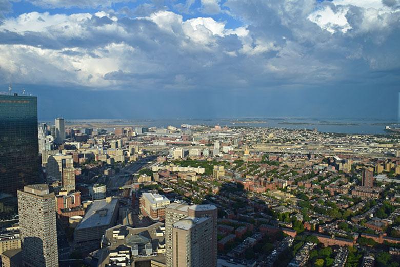 Boston vista do Skywalk Observatory