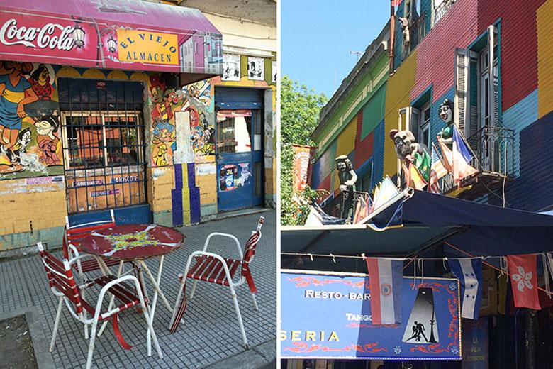 Ruas do Caminito em Buenos Aires
