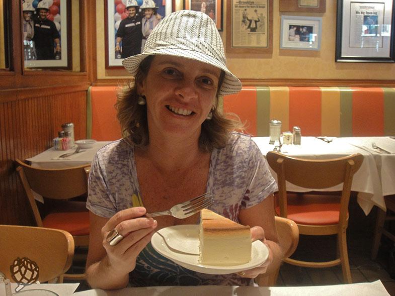 Cheesecake no Junior's em New Yotk