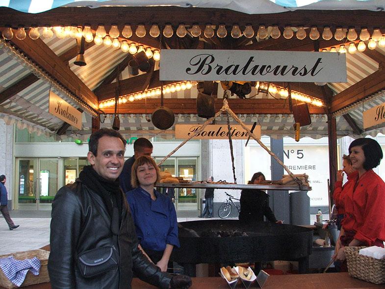 Salsicha típica em Berlin