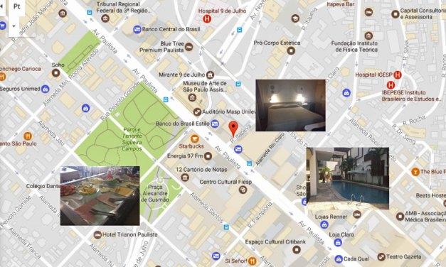 Hotéis perto da Av. Paulista para casal ou famílias