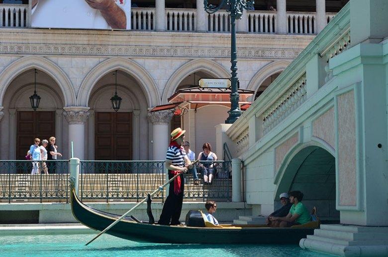 Passeio de Gôndola no Venetian em Las Vegas