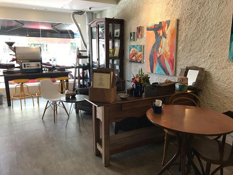 Interior do Ernesto Cafés Especiais em Brasília