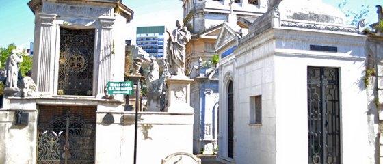 Cemitério da Recoleta em Buenos Aires
